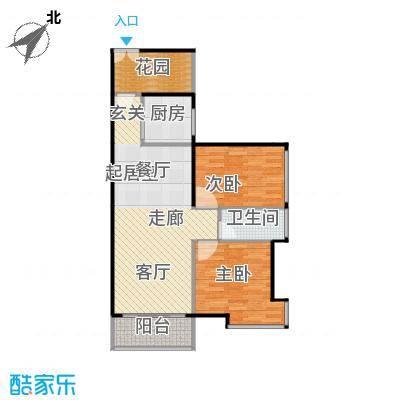 伟隆国际花园81.00㎡3、4栋02、03户型2室1卫1厨