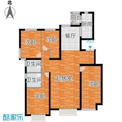 新华联雅园178.00㎡F62-8层户型4室2厅2卫