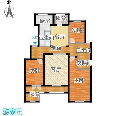 德嘉与海128.07㎡暖草洋房户型3室2厅2卫