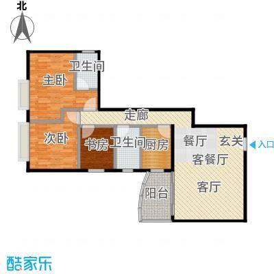 益兆明珠08户型3室1厅2卫1厨
