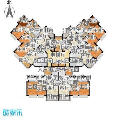 恒大御湖29-32栋标准层平面图户型9室6厅8卫6厨