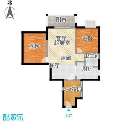 滨江水恋79.66㎡07户型2室1卫1厨