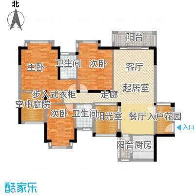地标广场二期132.00㎡F12、14号楼01单位12、13号楼02单位户型3室2卫1厨