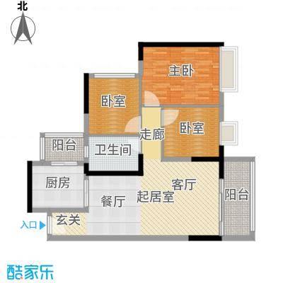 中海橡园国际101.07㎡4栋07户型1室1卫1厨