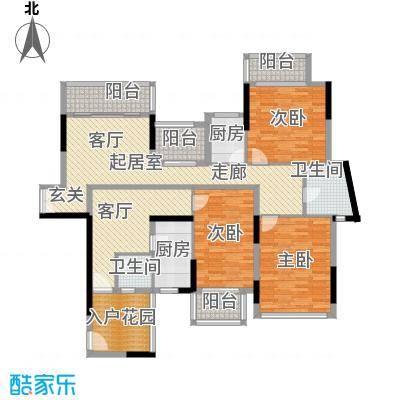 招商观园6栋三单元,7栋二、四单元C、D户型图(偶数层)户型