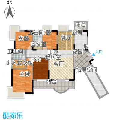 德洲丹缇轩1栋香榭阁标准层D2户型4室2卫1厨