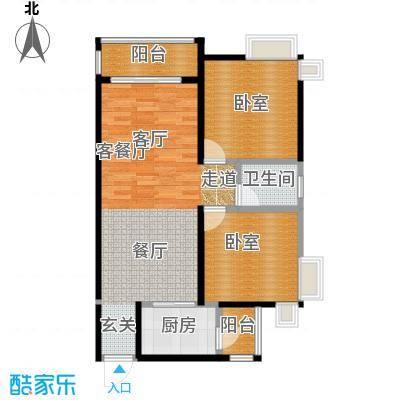 望龙轩1-2栋标准层01户型1厅1卫1厨