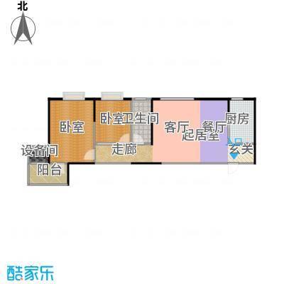 金泰怡景花园91.00㎡B14户型两室两厅一卫户型2室2厅1卫