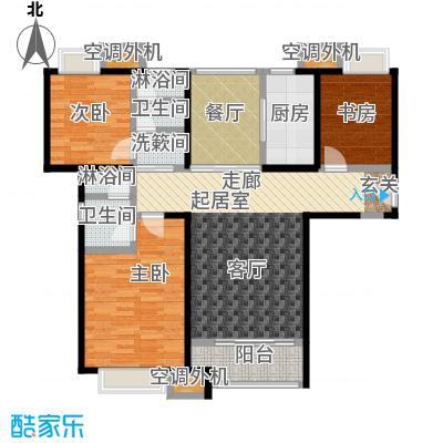 华发新城119.09㎡F1a 三室二厅二卫户型3室2厅2卫