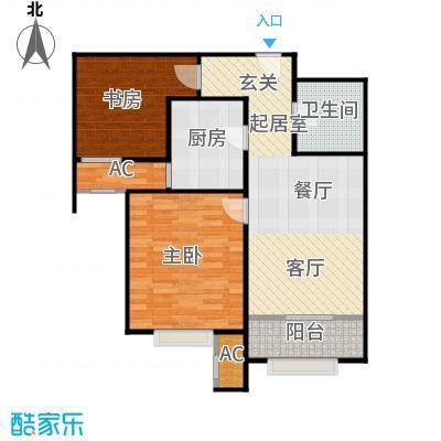 宝能城75.00㎡A-2户型2室2厅1卫