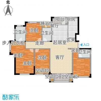 保利西山林语163.00㎡D4户型 4室2厅3卫户型4室2厅3卫
