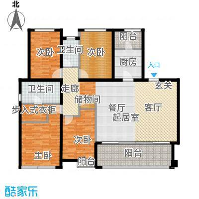 万科金域华府三期167.00㎡1-5号楼标准层04户型4室2卫1厨
