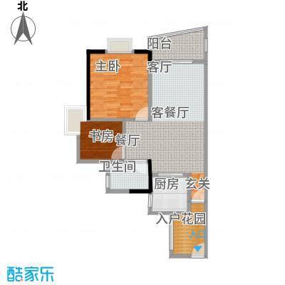 盛和新都会1栋标准层04、05户型2室1厅1卫1厨