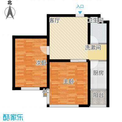 北方尚品81.00㎡北方尚品户型图D两室一厅一卫约81平方米(5/9张)户型10室