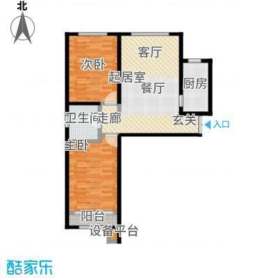 时代天骄103.23㎡2室2厅1卫户型2室2厅1卫CC