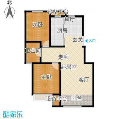 山中的24栋97.00㎡B户型 三-六层 二室二厅一卫户型2室2厅1卫