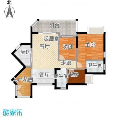 君华香柏广场94.89㎡尊府D6户型3室2卫1厨