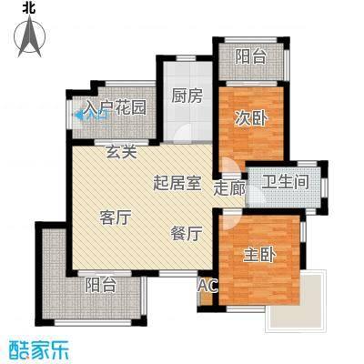 红鼎湾花园100.00㎡K户型2室2厅1卫QQ