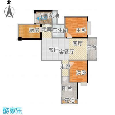 翠屏领东天河E01东南户型2室1厅1卫1厨