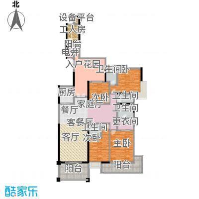 天骄峰景8#01户型4室1厅4卫1厨