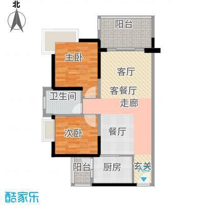 景湖时代城户型2室1厅1卫1厨