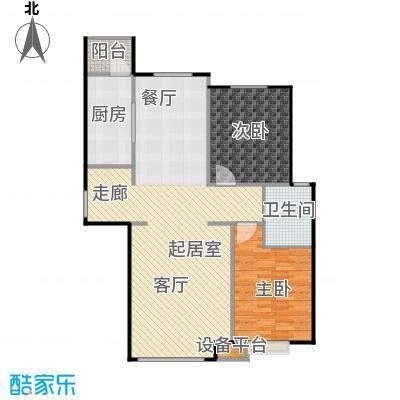北环盛世107.55㎡1#楼1单元东户户型3室2厅1卫