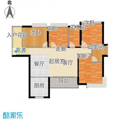 伟隆国际花园3栋04+05单元户型4室2卫1厨