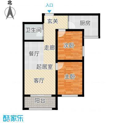 祺泰新居88.66㎡祺泰新居88.66㎡2室2厅1卫户型2室2厅1卫