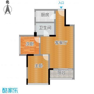 长虹百荟花园60.00㎡C2户型2室2厅1卫