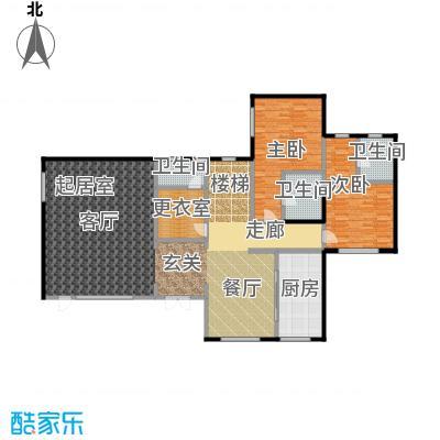 观唐云鼎204.02㎡A首层户型2室3卫1厨