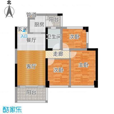 绿景香颂84.00㎡绿景香颂户型图B座1单元C型3房2厅1卫84平方米(10/16张)户型3室2厅1卫
