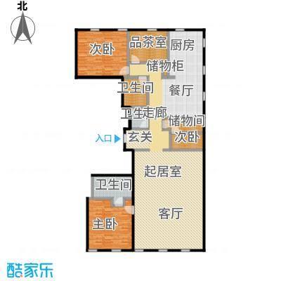 万国城MOMA231.30㎡B户型 四室两厅两卫户型4室2厅2卫