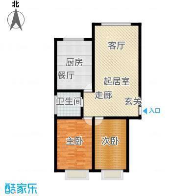 银座嘉园123.00㎡银座嘉园123.00㎡2室2厅1卫户型2室2厅1卫
