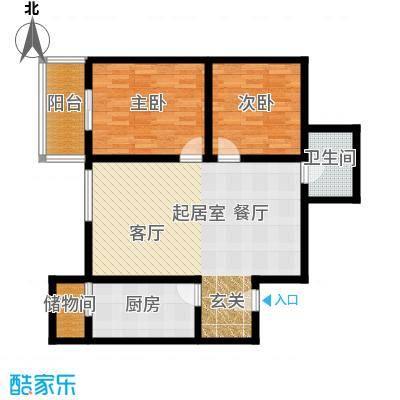 世纪锦绣91.66㎡G1户型