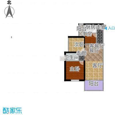 丹梓龙庭A栋D户型3室1厅1卫1厨