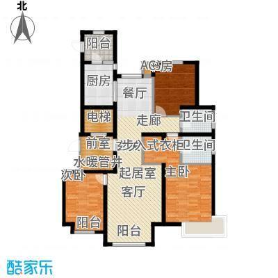 万锦香颂144.03㎡K户型3室2厅2卫