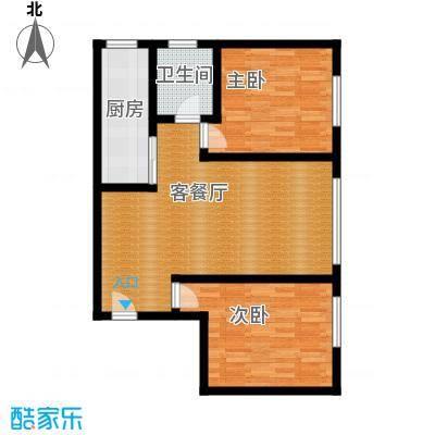 富丁国际78.16㎡A9户型2室1厅1卫1厨