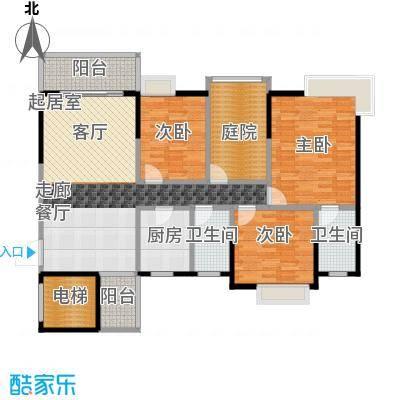 富山居花园117.00㎡11、12栋A户型3室2卫1厨
