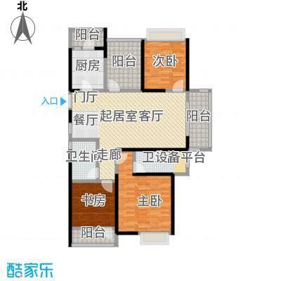 鑫苑鑫城123.00㎡C1户型3室2厅2卫