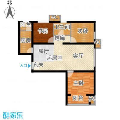 呼和浩特永泰城B4户型图户型3室2厅1卫