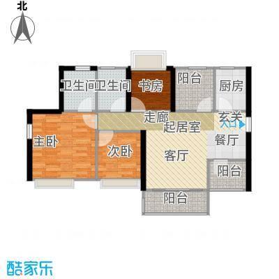 深业东城御园84.97㎡A2户型3室2厅2卫