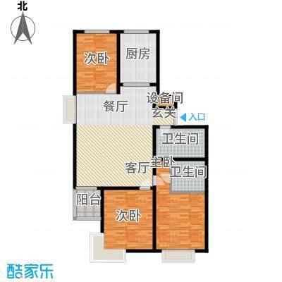 山水宜居142.00㎡山水宜居户型图U户型(5/12张)户型3室2厅2卫