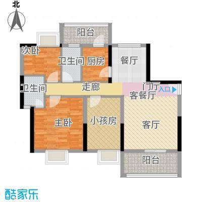 金沙花园89.21㎡户型2室1厅2卫1厨