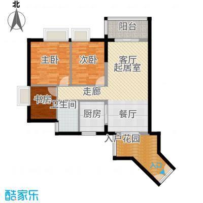 君华香柏广场90.93㎡G4户型3室1卫1厨