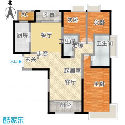 招商钻石山203.00㎡天境04户型3室2厅2卫