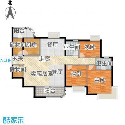 陶然豪园152.98㎡户型3室2卫1厨