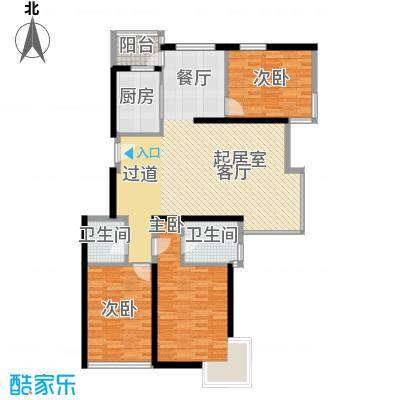 中国铁建绿港127.85㎡E1户型10室