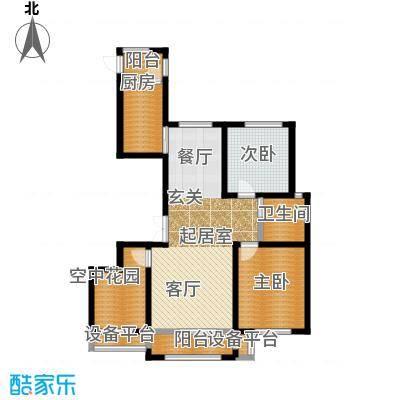 正源吉祥e家祥福园108.23㎡K户型108.23平米户型图户型2室2厅1卫