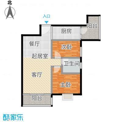 利海假日轩78.00㎡03单元户型2室1卫1厨