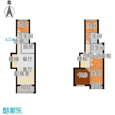 中惠卡丽兰136.40㎡C2紫砖石(薰衣草紫)扩展户型4室3卫1厨